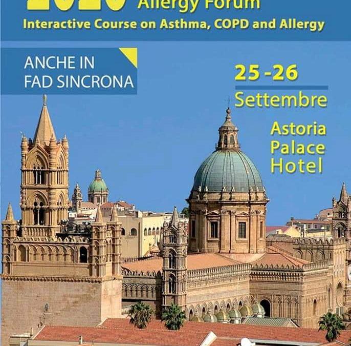 ARIAAA3-ONLUS Partecipa a Chest & Allergy Forum – Palermo 25-26 Settembre 2020