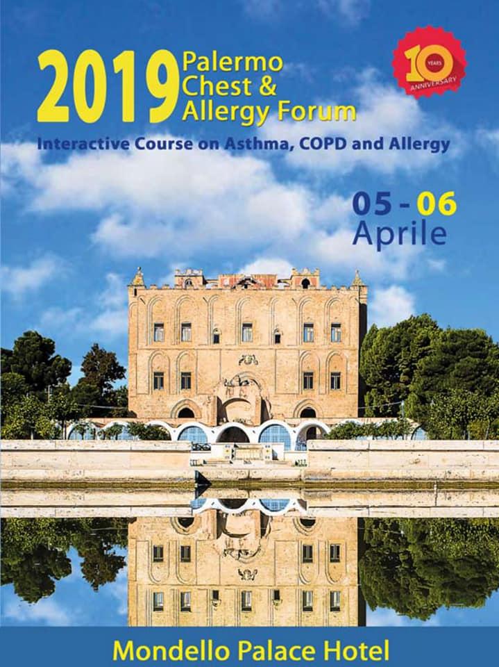 ARIAAA3-ONLUS Partecipa a Chest & Allergy Forum – Palermo 5-6 Aprile 2019