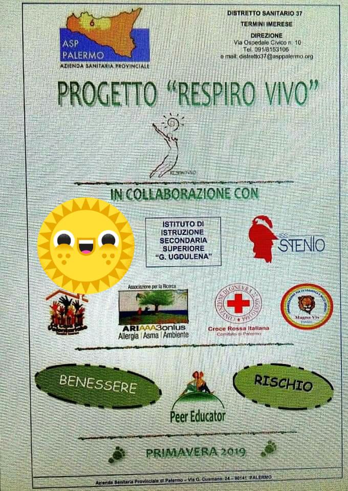 """ARIAAA3-ONLUS Partecipa a Progetto """"Respiro Vivo"""" C/O Liceo Classico Ugdulena di Termini Imerese"""